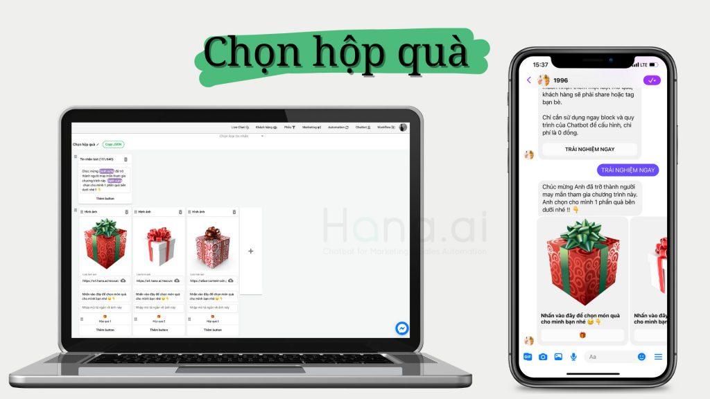 Chatbot Gamification Mở hộp quà bất ngờ cực kỳ dễ chơi