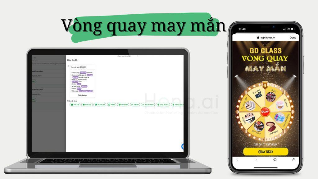 Chatbot Gamification Vòng quay may mắn sinh động hấp dẫn với giá trị giải thưởng cao